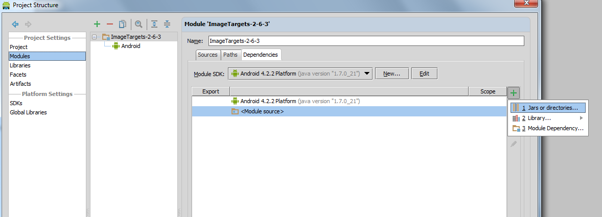 Android Studio - Unfortunately, ImageTarget has stopped | Vuforia
