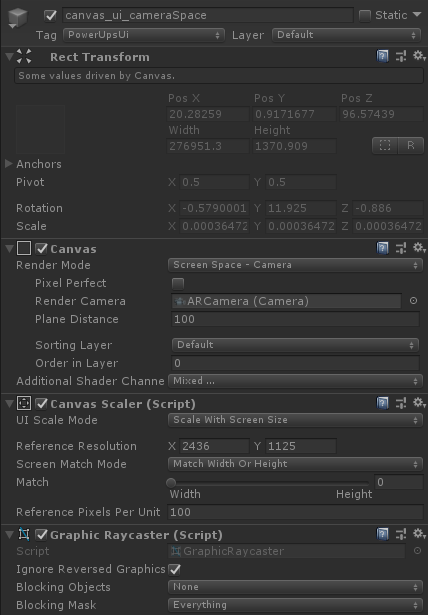 Unity Screen Space Canvas Sizing Incorrectly On ARCameras | Vuforia