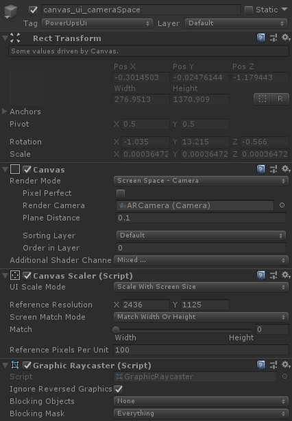 Unity Screen Space Canvas Sizing Incorrectly On ARCameras