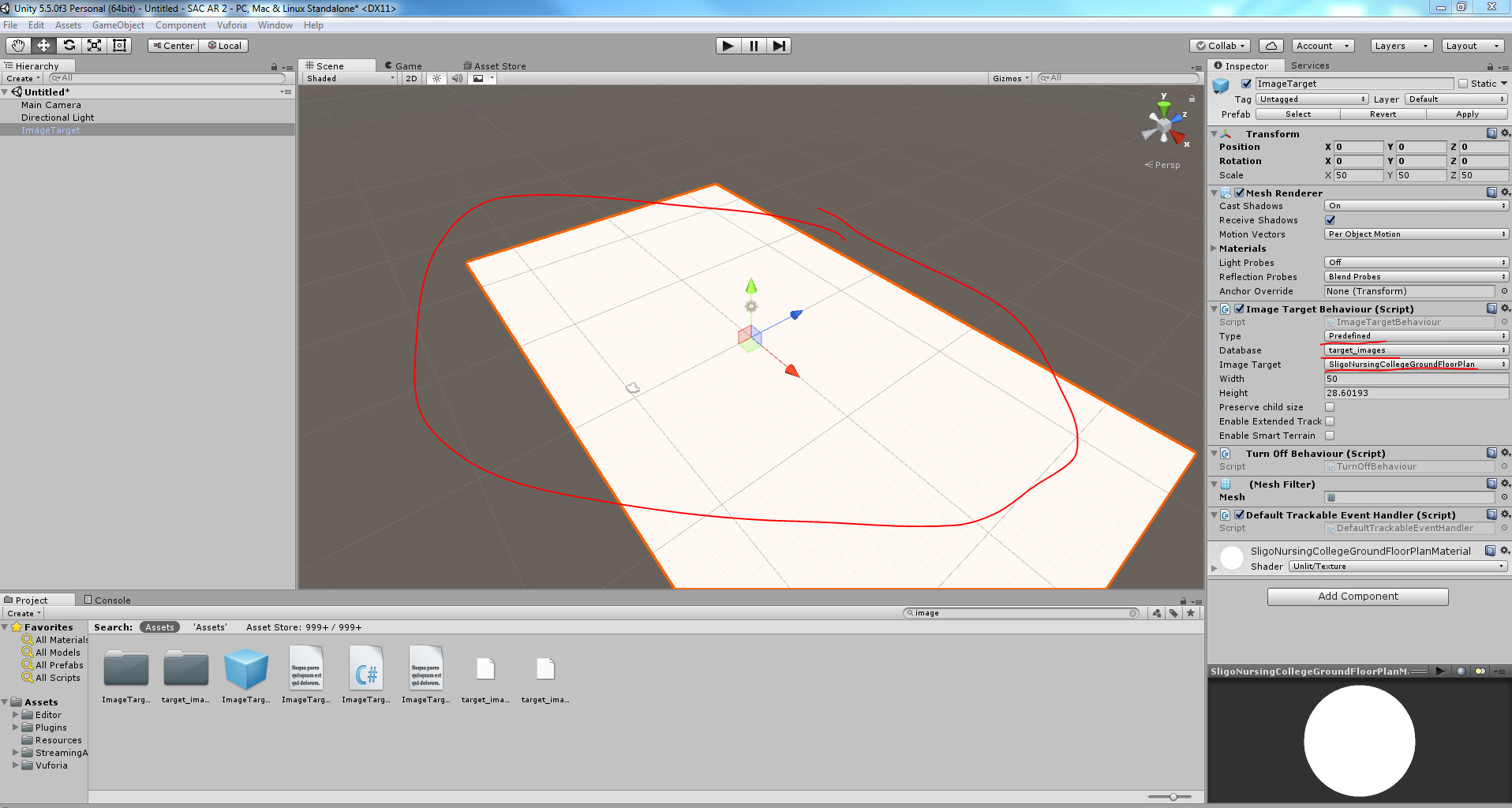 Target Image not displaying in Unity | Vuforia Developer Portal