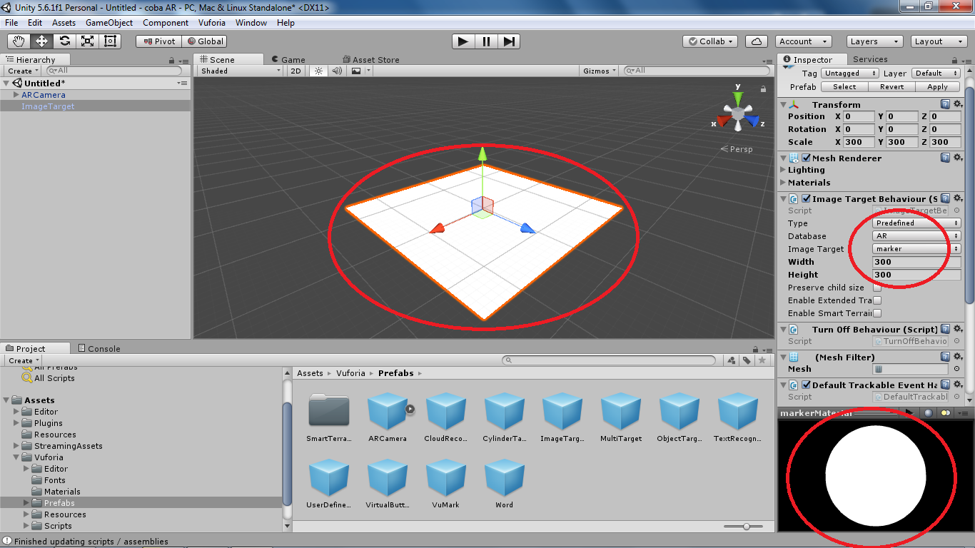 Target Image not displaying in Unity   Vuforia Developer Portal